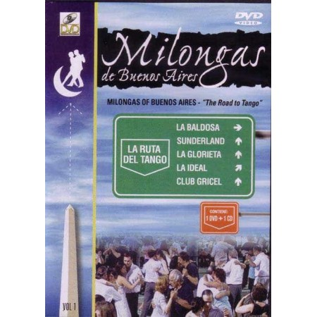 MILONGAS DE BUENOS AIRES DVD+CD VOL 1 THE ROAD TO TANGO