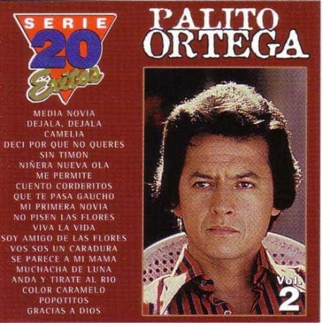 PALITO ORTEGA CD Serie 20 Exitos Vol 2 Best Of