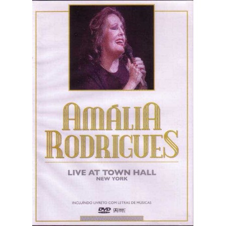 AMALIA RODRIGUES DVD Live At Town Hall New York