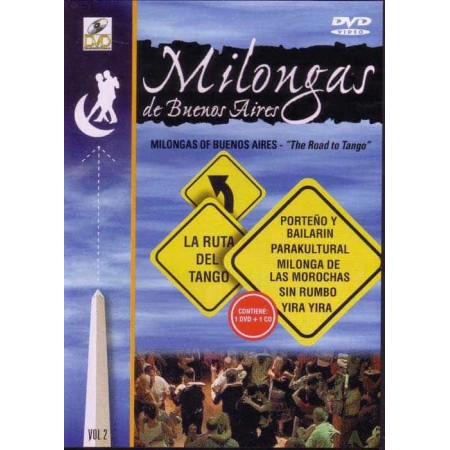 MILONGAS DE BUENOS AIRES DVD+CD Vol 2 The Road To Tango