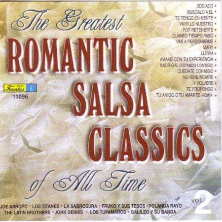 THE GREATEST ROMANTIC SALSA CLASSICS OF ALL TIME CD Vol 2