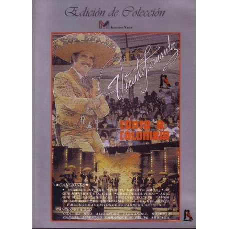 VICENTE FERNANDEZ DVD Canta A Colombia