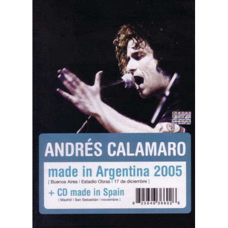 ANDRES CALAMARO DVD + CD Made In Argentina 2005