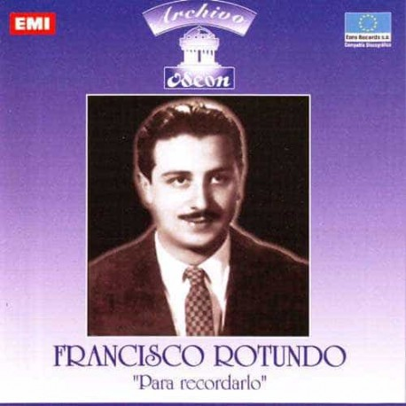 FRANCISCO ROTUNDO CD Para Recordarlo Archivo Odeon