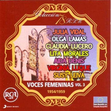 VOCES FEMENINAS VOL 3 CD Coleccion 78 RPM 1954 - 1959