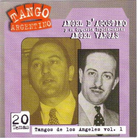 ANGEL D AGOSTINO & ANGEL VARGAS CD Tangos De Los Angeles Vol 1