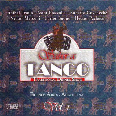 SABOR A TANGO CD Vol 1 Traditional Dinner Show