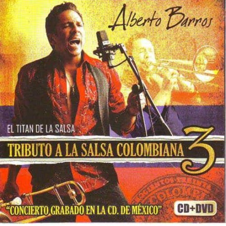 ALBERTO BARROS DVD+CD Vol 3 Tributo A La Salsa Colombiana
