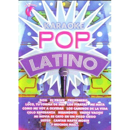 KARAOKE POP LATINO DVD Karaoke Pop Latino