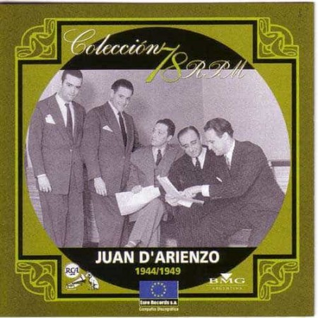 JUAN D ARIENZO CD Coleccion 78 RPM 1944 - 1949