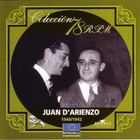 JUAN D'ARIENZO CD Coleccion 78 RPM 1940 - 1942