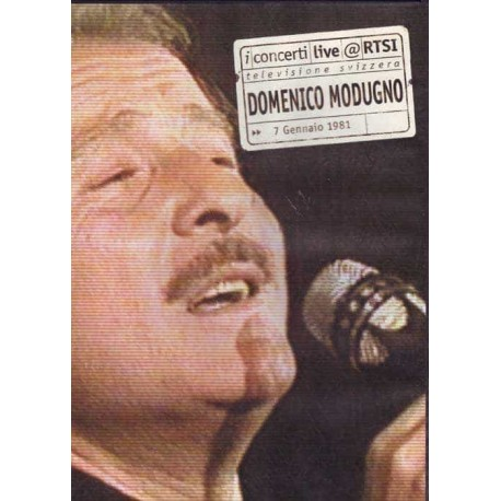 DOMENICO MODUGNO DVD in Concert Italian Swiss 1981