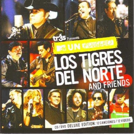 LOS TIGRES DEL NORTE AND FRIENDS CD+DVD MTV Unplugged